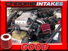 BLACK RED 88 89 90 91 92 93 94 CHEVY CAVALIER Z24 2.8L 3.1L V6 AIR INTAKE KIT
