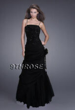 ONE OF A KIND! BEADED FORMAL/EVENING/PROM/BALL/BRIDESMAID DRESS; BLACK AU18/US16