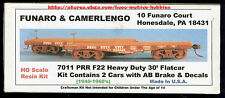 LMH Funaro F&C 7011  PENNSYLVANIA  30' PRR F22 HD Flatcars AB Brake TWO (2) Cars