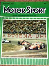 Motor Sport 9/77 - AUSTRIAN GP - GERMAN GP -Blydenstein Chevette Magnum Cavalier