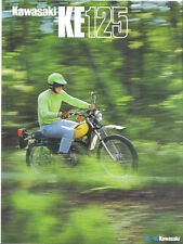 Kawasaki KE125 ( A3 )  Sales Brochure, Original NOS