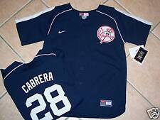 NWT NIKE NEW YORK YANKEES JERSEY SHIRT YOUTH CABRERA L