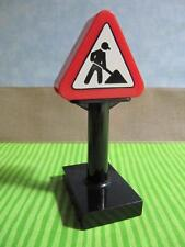 LEGO DUPLO BOB THE BUILDER CONSTRUCTION MEN WORKING SIGN BLACK AND RED