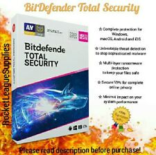 Bitdefender Total Security 2020/2019 12 Month - 1 YEAR 5 Devices Activation Code
