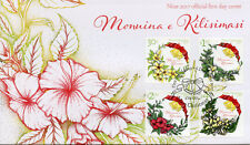 Niue 2017 FDC Christmas Wreaths Bells Flowers Plants 4v Set Cover Stamps