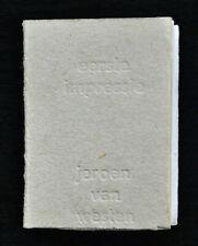 Jeroen van Westen, miniature book # EERSTE IMPRESSIE #  ltd, numb/signed, 1980,