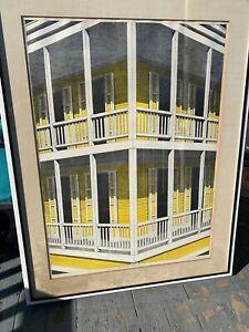 "Emilio Sanchez ""La Casa Amarilla"" Color Lithograph Signed & Numbered"