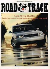1997 Audi A8 4.2 Quattro Road Test Brochure by Road & Track: A-8