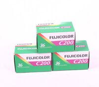 Fuji Fujicolour C200 35mm 36exp 3 Rolls Cheap Colour Film - Free UK Postage