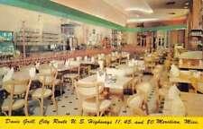 Meridian Mississippi Davis Grill Interior Vintage Postcard K73388