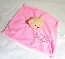 Baby Hugs Pink Teddy Bear Rattle Blanket Comforter Love And Hugs Card Factory