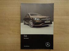 Mercedes Benz CLA Class Owners Handbook/Manual 17-18