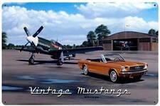 Stan Stokes Vintage Mustangs Airplanes Metal Sign Man Cave Garage Decor STK082