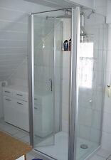 Duschkabine U-Form mit Pendeltür + 2 Wänden Duschabtrennung 3 Seiten 75 80 90100