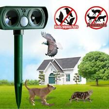 Solar Ultrasonic Dog Cat Animal Repeller Yard Garden Chaser Repellent Deterrent