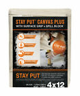 Trimaco  Stay Put  Heavy Weight Grade Canvas  Drop Cloth  4 ft. W x 12 ft. L