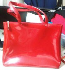 Beijo London Paris New York Women Cremson Red High Gloss Shoulder Bucket Handbag