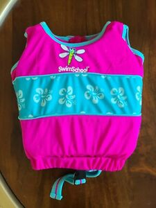 Swim School Trainer Vest Level 1 Age 2 - 4 Years 33 lb Max Pink