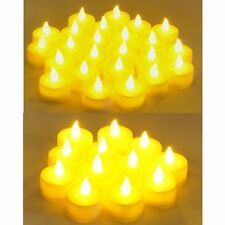 72 Battery Operated Flameless LED Tealight Candles Lot Bulk, Flickering, Decor
