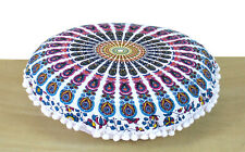 """Indian 16"""" Small Round Mandala Floor Pillow Cover Room Decoretive Cushion Covers"""