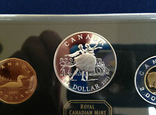 2001 Canada Proof Set with National Ballet of Canada Silver Dollar E4832