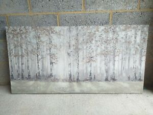 Large Anthony Waller (from Laura Ashley) Watercolour Forest Scene On Canvass