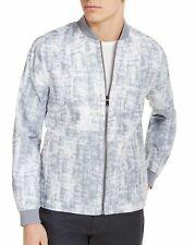 Alfani Mens Jacket Gray Size XL Printed Full-Zip Pockets Bomber $139 #075