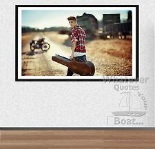 Justin Bieber cartel Impresión Pared Arte-Todas las Tallas + marco
