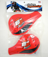Enduro Engineering Red Plastic Outer Mount Roost Deflectors Handguards NEW