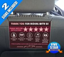 UBERs/LYFTs CUSTOM Signs Headrest Boost Ratings Increase Tips - Red