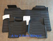 NEW 2015-2017 Ford F-150 CREW CAB All Weather 3 Piece RUBBER FLOOR MATS, OEM