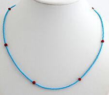 turquesa (Tratado), Coral Cadena de piedra preciosa rojo bola 45cm PLATA 925