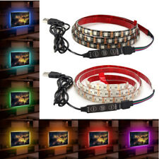 1M Waterproof USB SMD5050 120 LED RGB Strip Light Bar TV Background Lighting Lam