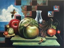 Beautiful Acrylic Painting Still Life - Bird- Fruits -Butterfly