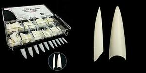 BeYou Natural Long Stiletto 500pcs Artificial Fake Nail Tips,10 Sizes 28510...