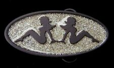 SEXY MUDFLAP GIRLS BELT BUCKLE WITH GLITTER NICE!