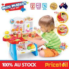 Kids Supermarket Cash Register Pretend Toy Mini Shopping Checkout Juguetes Gift