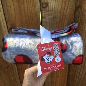 🔴 Disney NWT Men's Pajama Pants Size Small Gray Soft Comfy Loungewear Casual