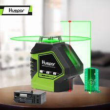 Huepar Self Leveling Green Laser Level 360 Degree Cross Line with 2 Plumb Dots