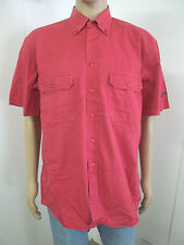 Mens Paul & Shark Short Sleeve Button Front Yachting Shirt Size XL 100% Cotton