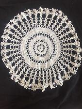 """V Vintage 15"""" Crochet Lace Doily Antique Doilies Dressing Table Place Mat"""