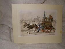 Anton Pieck, 1966 Donald Art, Holland, Donkey & Cart #4977