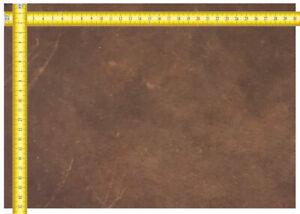 Dickleder Bullenleder Größe A4 (21cm x 30cm) mittelbraun Sattlerleder Lederreste