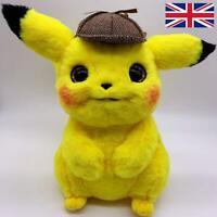 Genuine Detective Pikachu Pokemon Plush Soft Toy Gift Large Fast Shipping