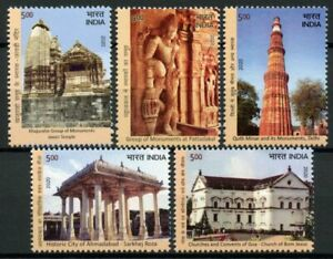India UNESCO Stamps 2020 MNH World Heritage Sites Part II Temples Tourism 5v Set