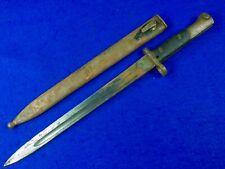 Belgium Belgian Ww2 Model 1924 Mauser Bayonet Fighting Knife & Scabbard