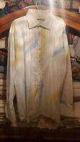 Vintage RARE Men's Coogi luxe  Shirt Top Bright Colors Size 3XL XXXL HIP HOP
