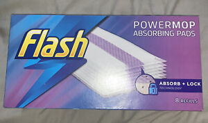 Flash Power Mop Absorbing Refill Pads (8 individual pads) Brand New BEST PRICE!!
