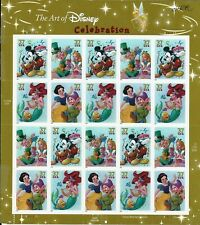 2005 The Art of DISNEY CELEBRATION Mint Sheet 20 37¢ Stamps in plastic sleeve