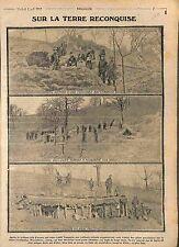 Poilus Tranchée Abri Souterrain Bataille de la Marne/Soldats Vauquois   WWI 1915